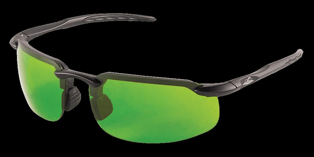 Swordfish® Green 4.9 Cal Rated Anti-Fog Lens, Matte Black Frame Safety Glasses - BH10616AF before Arc Flash Test