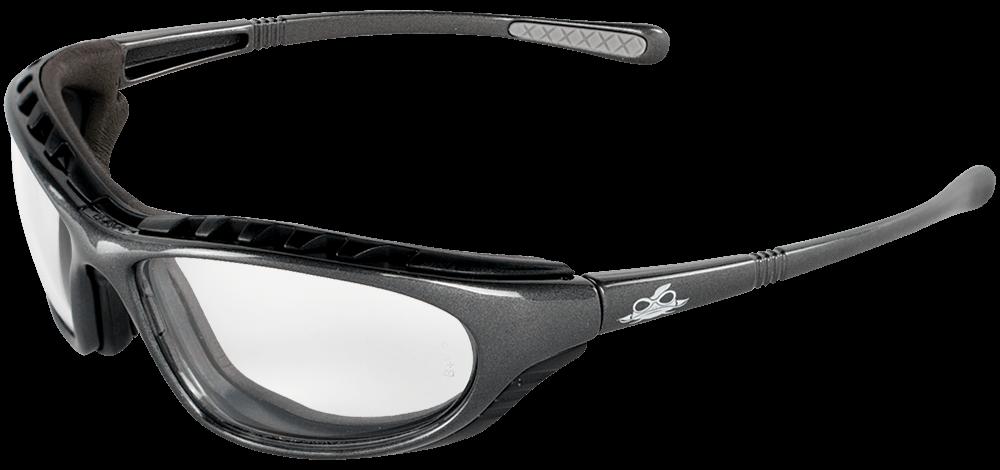 Steelhead® Clear Anti-Fog Lens, Shiny Pearl Gray Frame Safety Glasses - BH1391AF