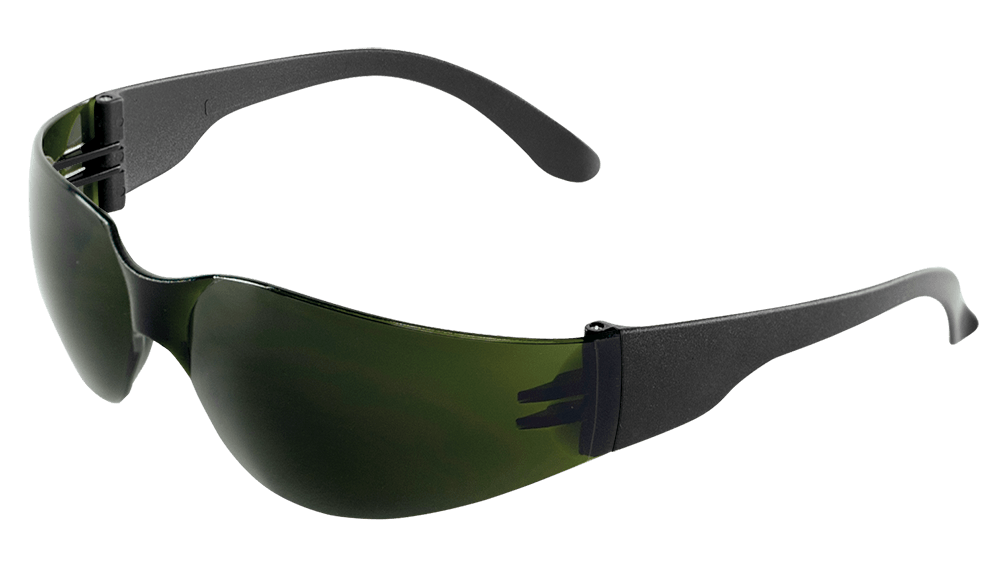 BH1417 - Torrent™ Welding Green IR Shade 5.0 Lens, Frosted Black Frame Safety Glasses