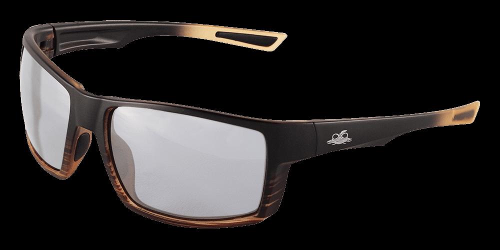 Sawfish™ Variable Tint Performance Fog Technology Polarized Lens, Tortoise/Black Frame Safety Glasses - BH26718PFT