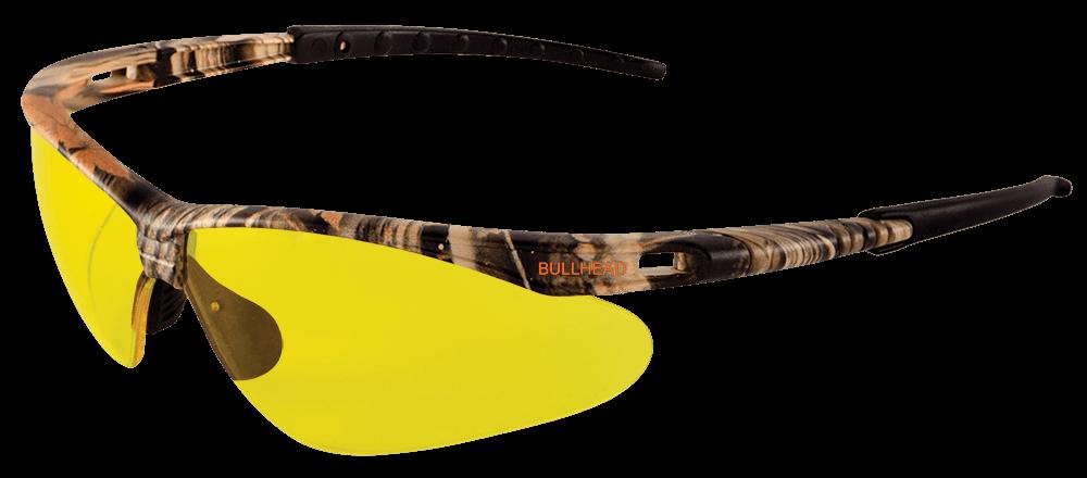 BH61084AF - Stinger® Yellow Anti-Fog Lens, Woodland Camouflage Frame Safety Glasses
